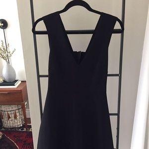 Zara - black dress with bow detail on back